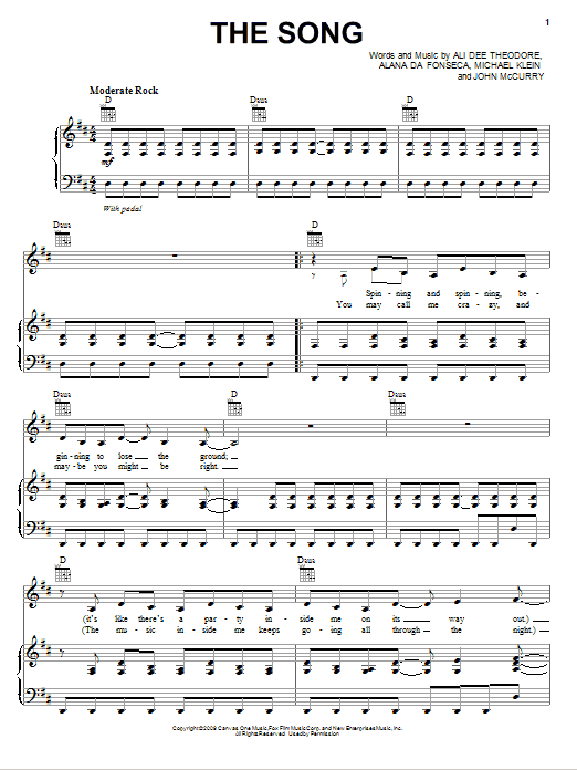 Alvin And The Chipmunks The Song sheet music notes and chords. Download Printable PDF.