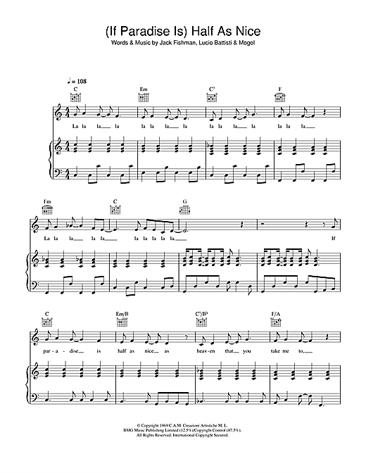 Amen Corner (If Paradise Is) Half As Nice sheet music notes and chords