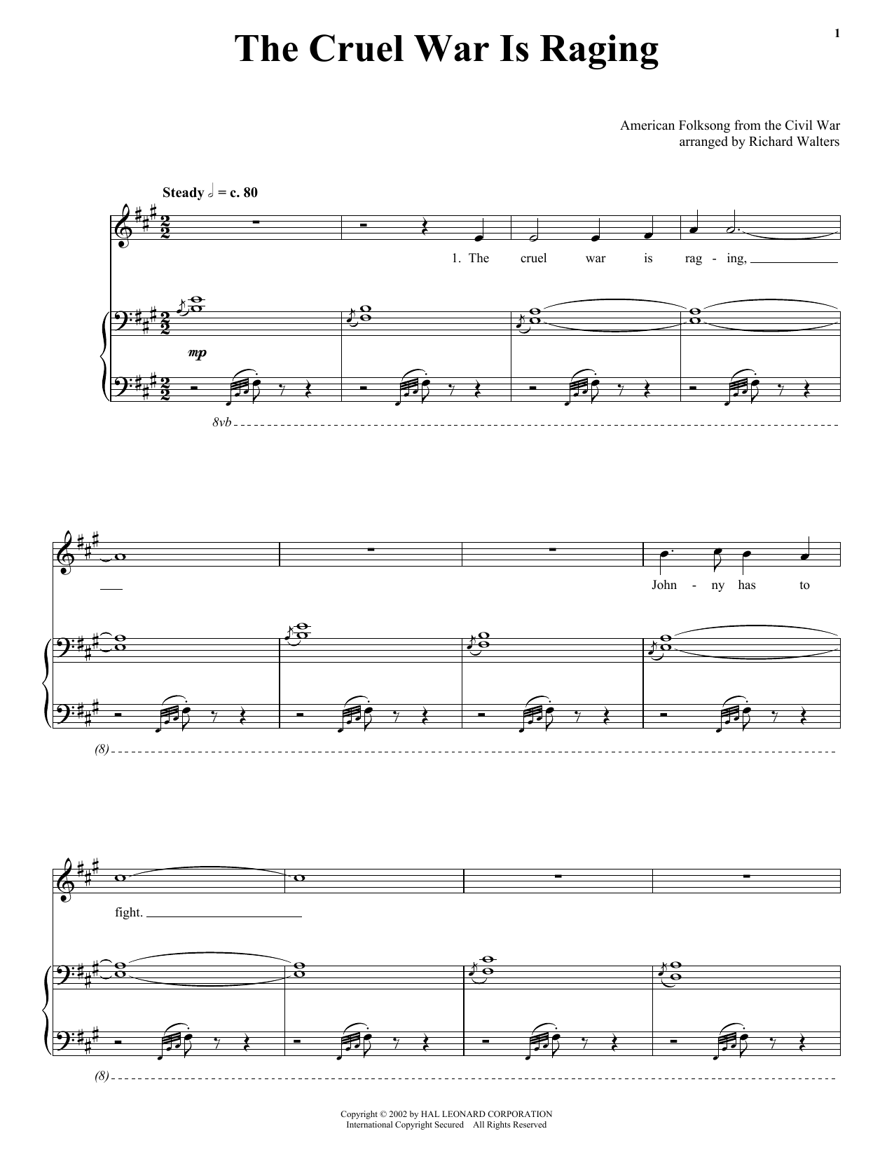 American Folk Song The Cruel War Is Raging sheet music notes and chords. Download Printable PDF.