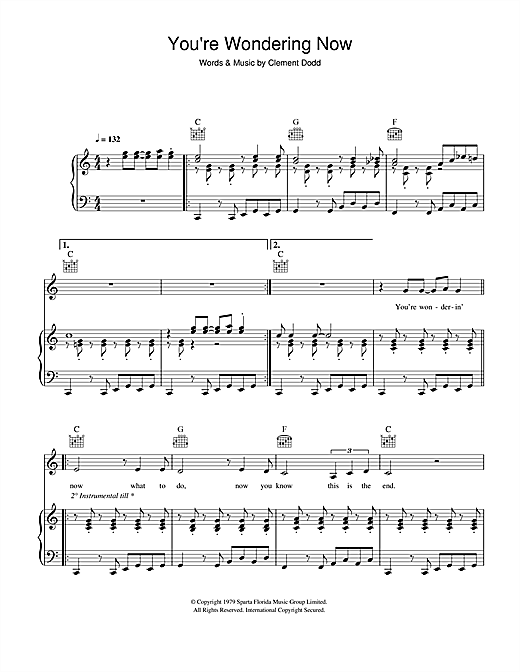 Amy Winehouse You're Wondering Now sheet music notes and chords