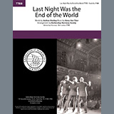 Download or print Andrew B. Sterling & Harry von Tilzer Last Night Was The End Of The World (arr. Barbershop Harmony Society) Sheet Music Printable PDF 4-page score for Barbershop / arranged TTBB Choir SKU: 474906.