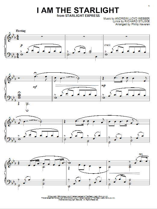 Andrew Lloyd Webber I Am The Starlight sheet music notes and chords. Download Printable PDF.