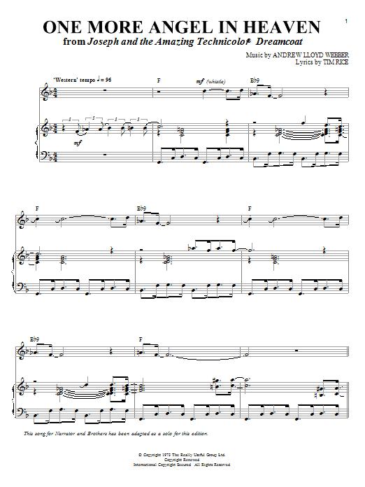 Abridged Vocal Score Webber Joseph And The Amazing Technicolor Dreamcoat