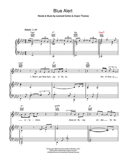 Anjani Blue Alert sheet music notes and chords. Download Printable PDF.