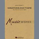 Download Anne McGinty 'Variations And Theme (for Flute Solo And Band) - Mallet Percussion' Printable PDF 1-page score for Concert / arranged Concert Band SKU: 288161.