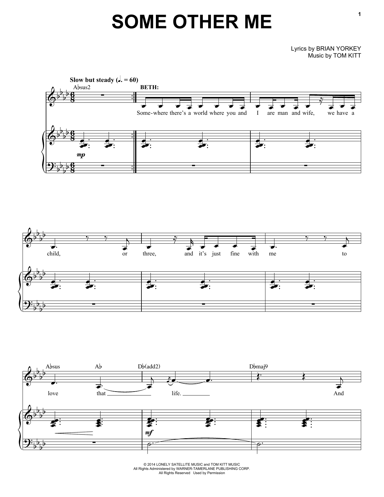 Anthony Rapp & Idina Menzel Some Other Me (from If/Then: A New Musical) sheet music notes and chords. Download Printable PDF.