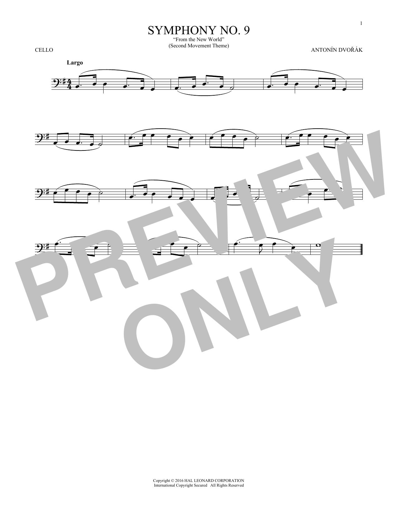 Antonin Dvorak Largo From Symphony No. 9 (
