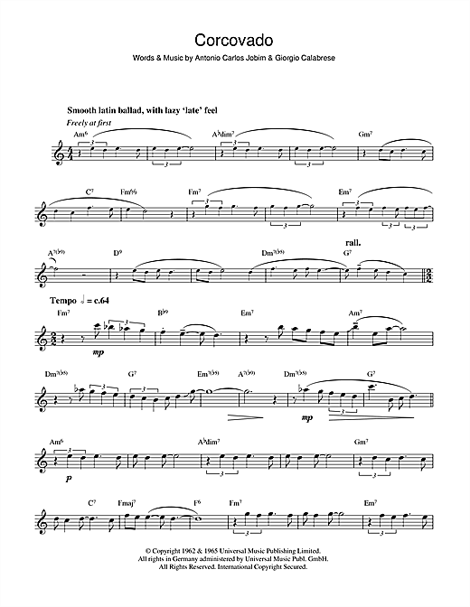 Antonio Carlos Jobim Corcovado (Quiet Nights Of Quiet Stars) sheet music notes and chords. Download Printable PDF.
