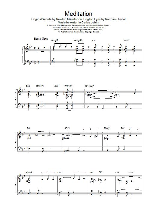 Gerry Mulligan Meditation sheet music notes and chords. Download Printable PDF.