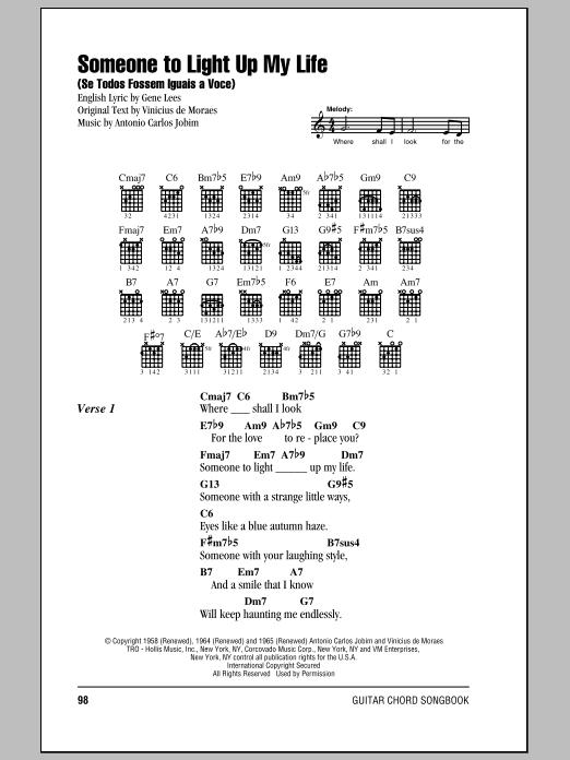 Antonio Carlos Jobim Someone To Light Up My Life (Se Todos Fossem Iguais A Voce) sheet music notes and chords. Download Printable PDF.