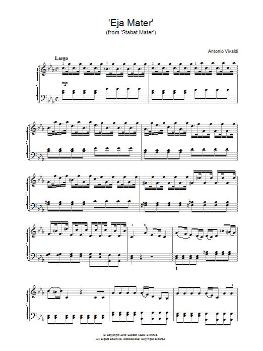 Antonio Vivaldi Eja Mater (from Stabat Mater) sheet music notes and chords. Download Printable PDF.