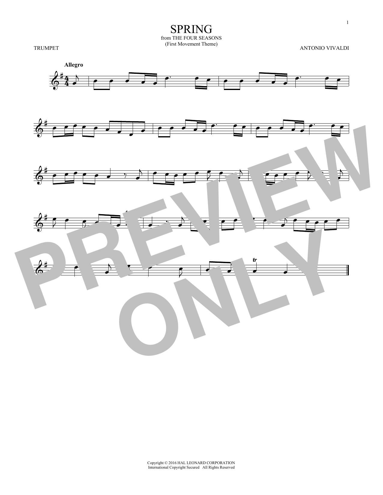Antonio Vivaldi Allegro I, RV 269 (