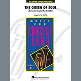 Download Aretha Franklin 'The Queen Of Soul (arr. Paul Murtha)- Conductor Score (Full Score) - Eb Alto Saxophone 1' Printable PDF 2-page score for Soul / arranged Concert Band SKU: 408740.