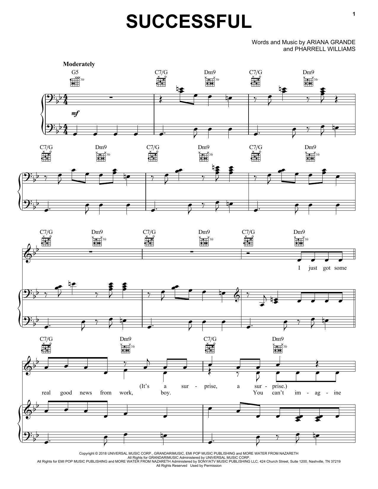 Ariana Grande Successful sheet music notes and chords