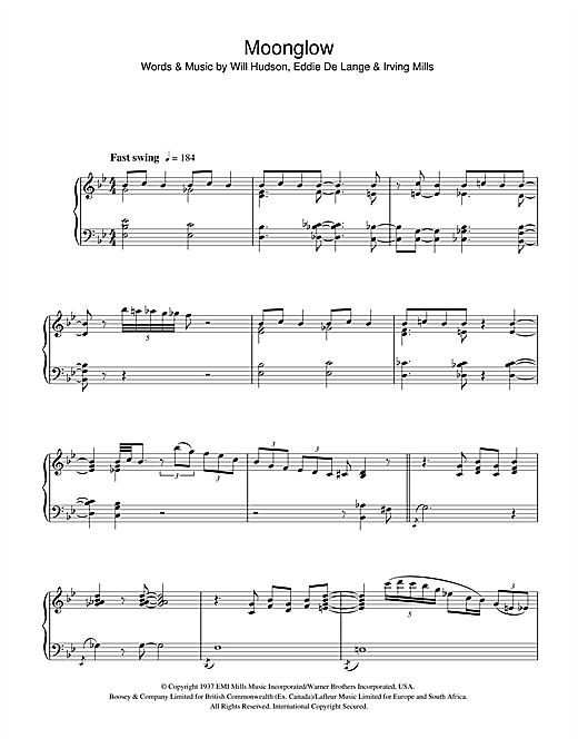 Art Tatum Moonglow sheet music notes and chords. Download Printable PDF.