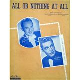 Download or print Frank Sinatra All Or Nothing At All Sheet Music Printable PDF 4-page score for Jazz / arranged Piano, Vocal & Guitar (Right-Hand Melody) SKU: 13618.