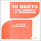 Download Arthur Frackenpohl '10 Duets For Trumpet And Trombone' Printable PDF 16-page score for Classical / arranged Brass Ensemble SKU: 124834.