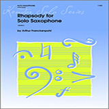 Download Arthur Frackenpohl 'Rhapsody For Solo Saxophone' Printable PDF 2-page score for Classical / arranged Woodwind Solo SKU: 124773.