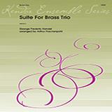 Download Arthur Frackenpohl 'Suite For Brass Trio - Opt. Trumpet (Doubles Horn 1)' Printable PDF 2-page score for Classical / arranged Brass Ensemble SKU: 351447.
