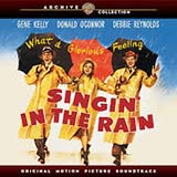 Download or print Arthur Freed and Nacio Herb Brown Singin' In The Rain Sheet Music Printable PDF 3-page score for Broadway / arranged Big Note Piano SKU: 435090.