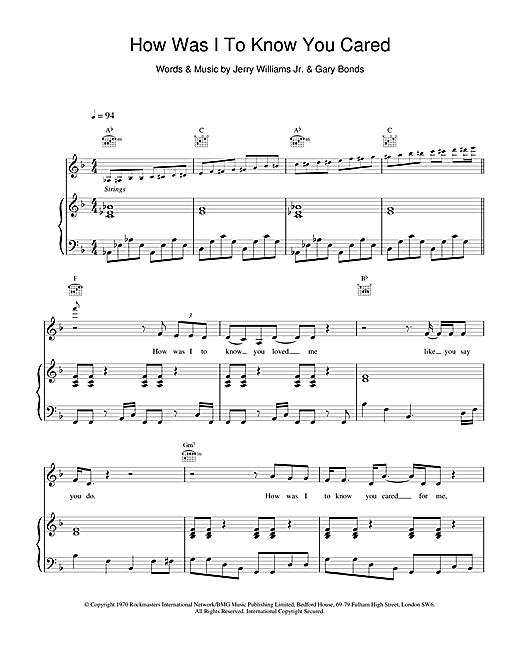 Arthur Tracy How Was I To Know You Cared sheet music notes and chords. Download Printable PDF.