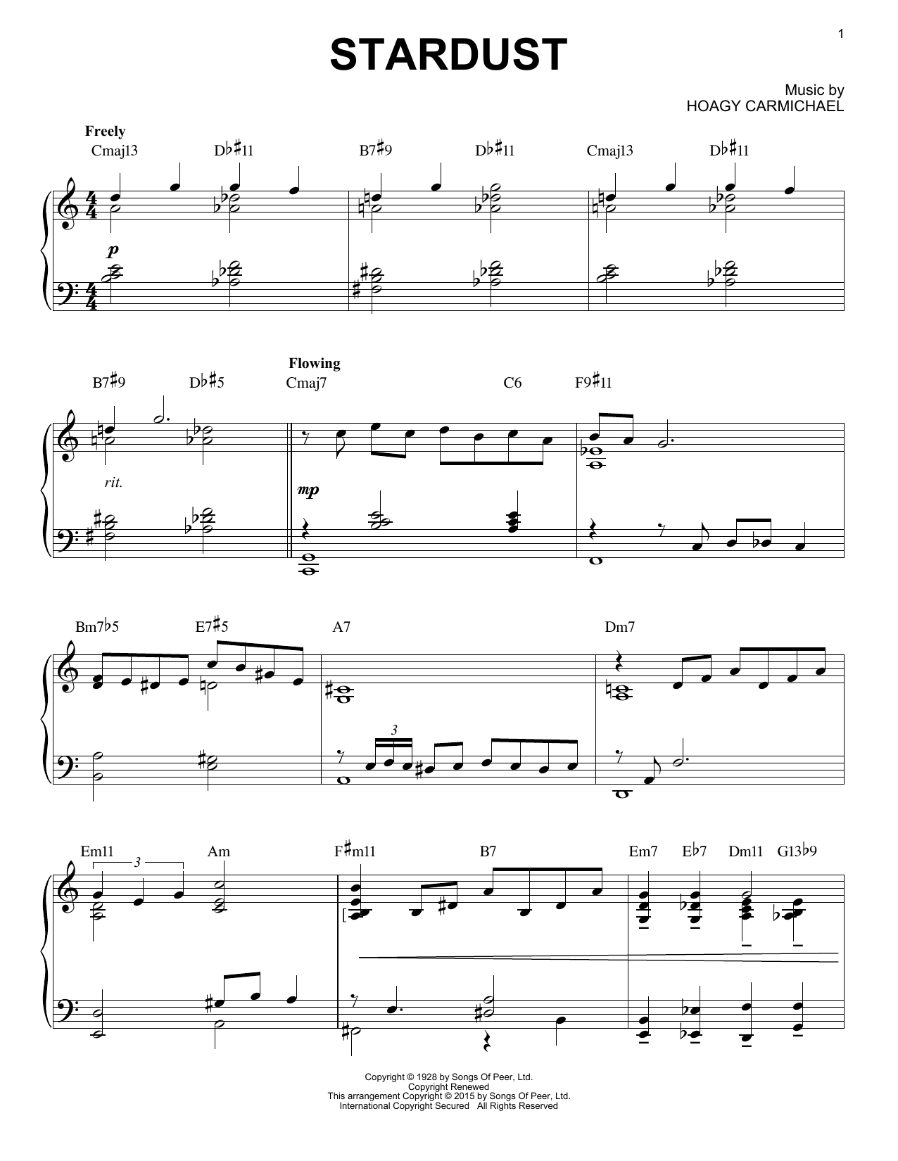 Artie Shaw Stardust [Jazz version] (arr. Brent Edstrom) sheet music notes and chords. Download Printable PDF.