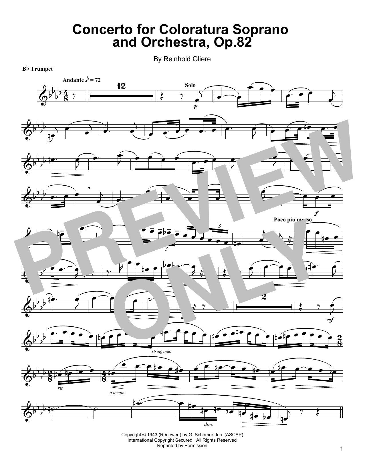 Arturo Sandoval Concerto For Coloratura Soprano And Orchestra, Op. 82 sheet music notes and chords
