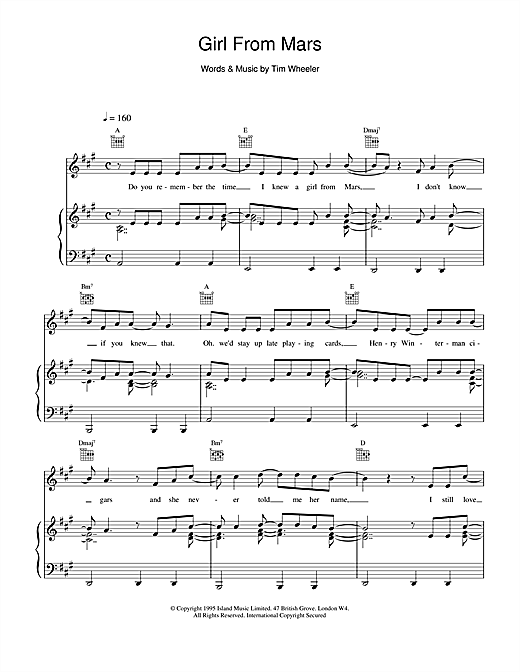 Ash Girl From Mars sheet music notes and chords