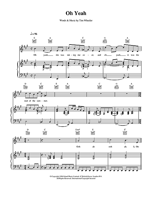 Ash Oh Yeah sheet music notes and chords. Download Printable PDF.