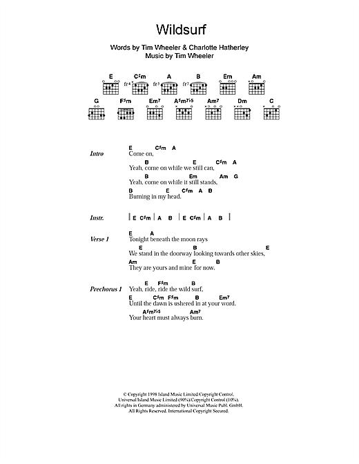 Ash Wildsurf sheet music notes and chords. Download Printable PDF.