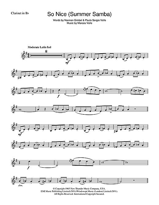 Astrud Gilberto So Nice (Summer Samba) sheet music notes and chords. Download Printable PDF.