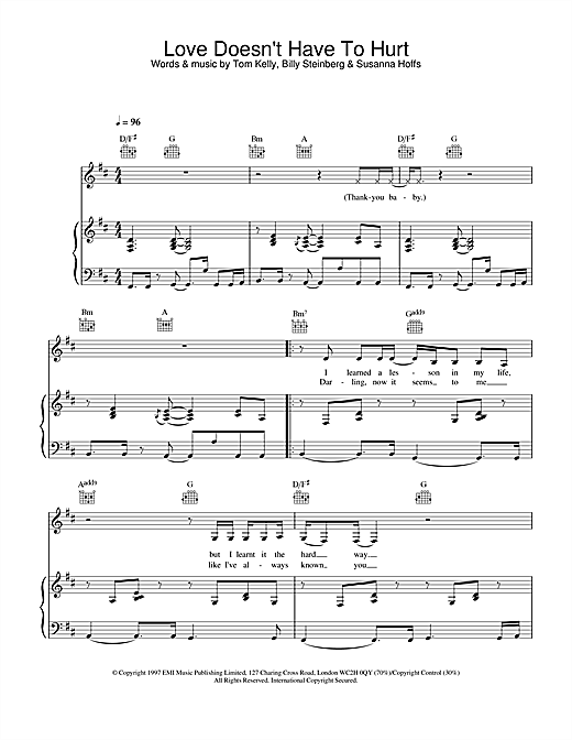 Atomic Kitten Love Doesn't Have To Hurt sheet music notes and chords. Download Printable PDF.
