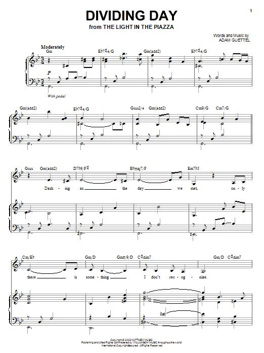 Audra McDonald Dividing Day sheet music notes and chords. Download Printable PDF.