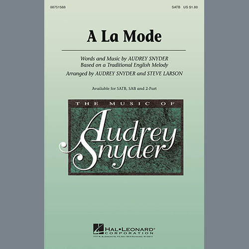 Easily Download Audrey Snyder Printable PDF piano music notes, guitar tabs for 2-Part Choir. Transpose or transcribe this score in no time - Learn how to play song progression.
