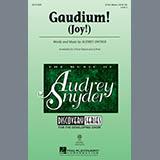 Download or print Audrey Snyder Gaudium! Sheet Music Printable PDF 6-page score for Concert / arranged 2-Part Choir SKU: 99086.
