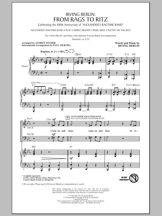Audrey Snyder I Love Ragtime (Medley) sheet music notes and chords. Download Printable PDF.