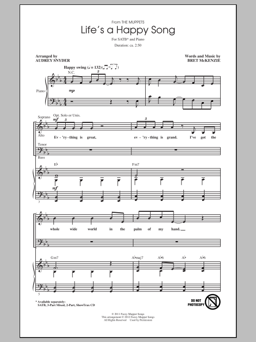 Audrey Snyder Life's A Happy Song sheet music notes and chords. Download Printable PDF.