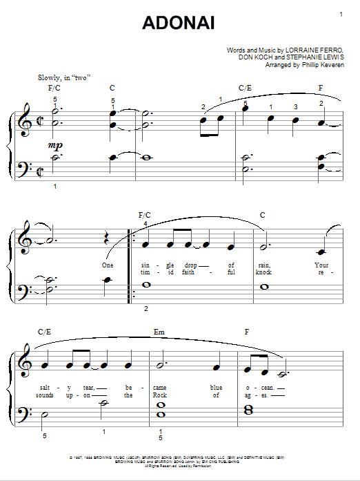 Avalon Adonai sheet music notes and chords. Download Printable PDF.