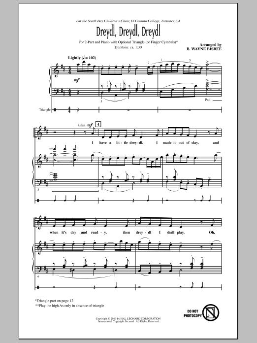 B. Wayne Bisbee Dreydl, Dreydl, Dreydl sheet music notes and chords