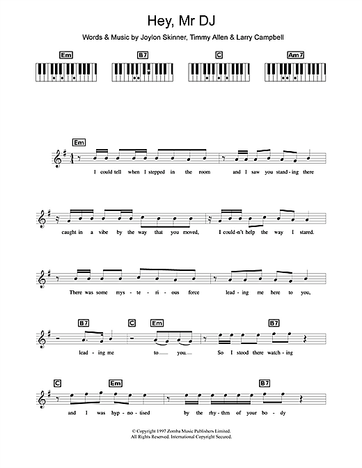 Backstreet Boys Hey, Mr DJ sheet music notes and chords. Download Printable PDF.