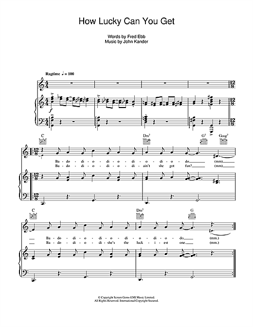 Barbra Streisand How Lucky Can You Get? sheet music notes and chords. Download Printable PDF.