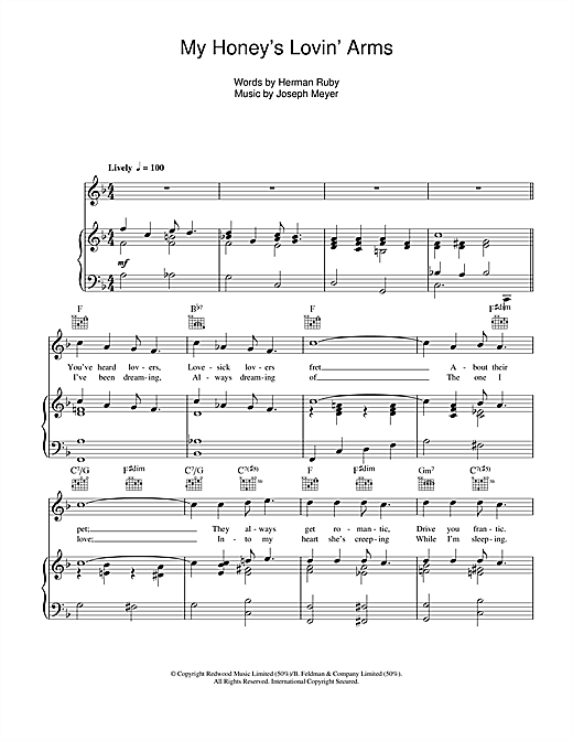 Barbra Streisand My Honey's Lovin' Arms sheet music notes and chords. Download Printable PDF.