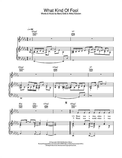 Barbra Streisand What Kind Of Fool sheet music notes and chords. Download Printable PDF.