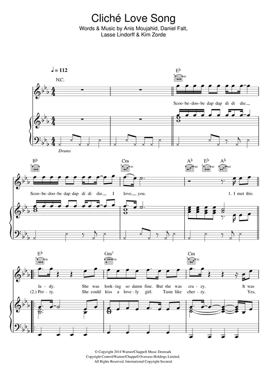 Basim Cliche Love Song sheet music notes and chords. Download Printable PDF.