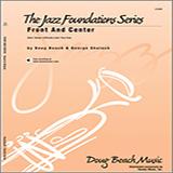 Download Beach, Shutack 'Front And Center - Trombone 4' Printable PDF 2-page score for Jazz / arranged Jazz Ensemble SKU: 316268.