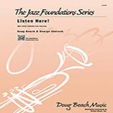 Download Beach, Shutack 'Listen Here! - Alto Sax 1' Printable PDF 2-page score for Jazz / arranged Jazz Ensemble SKU: 316204.