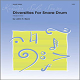 Download or print Beck Diversities For Snare Drum Sheet Music Printable PDF 17-page score for Classical / arranged Percussion Solo SKU: 124779.