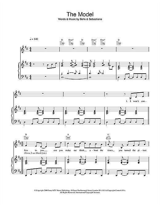 Belle & Sebastian The Model sheet music notes and chords
