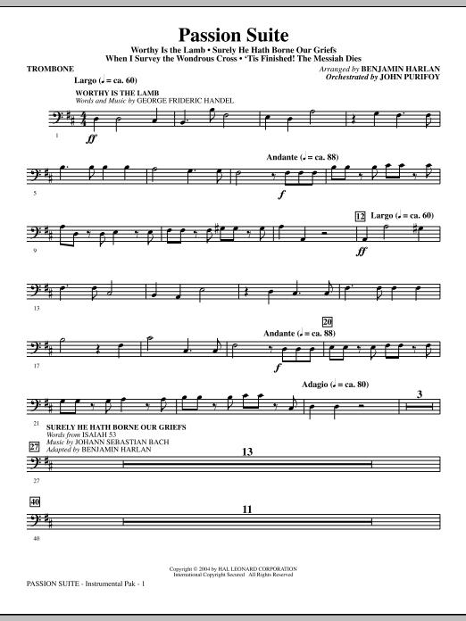 Benjamin Harlan Passion Suite - Trombone sheet music notes and chords. Download Printable PDF.