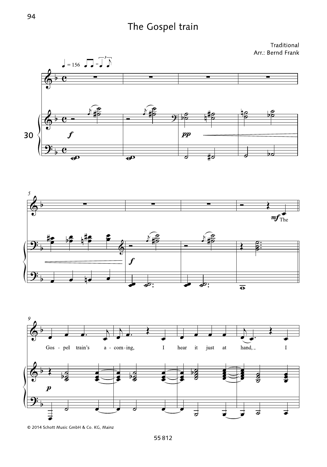 Bernd Frank The Gospel Train sheet music notes and chords. Download Printable PDF.